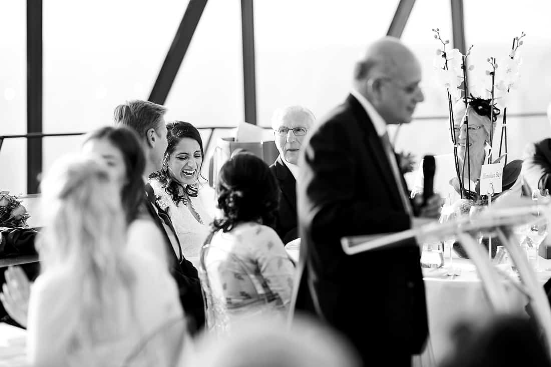 Wedding speeches at the Gherkin
