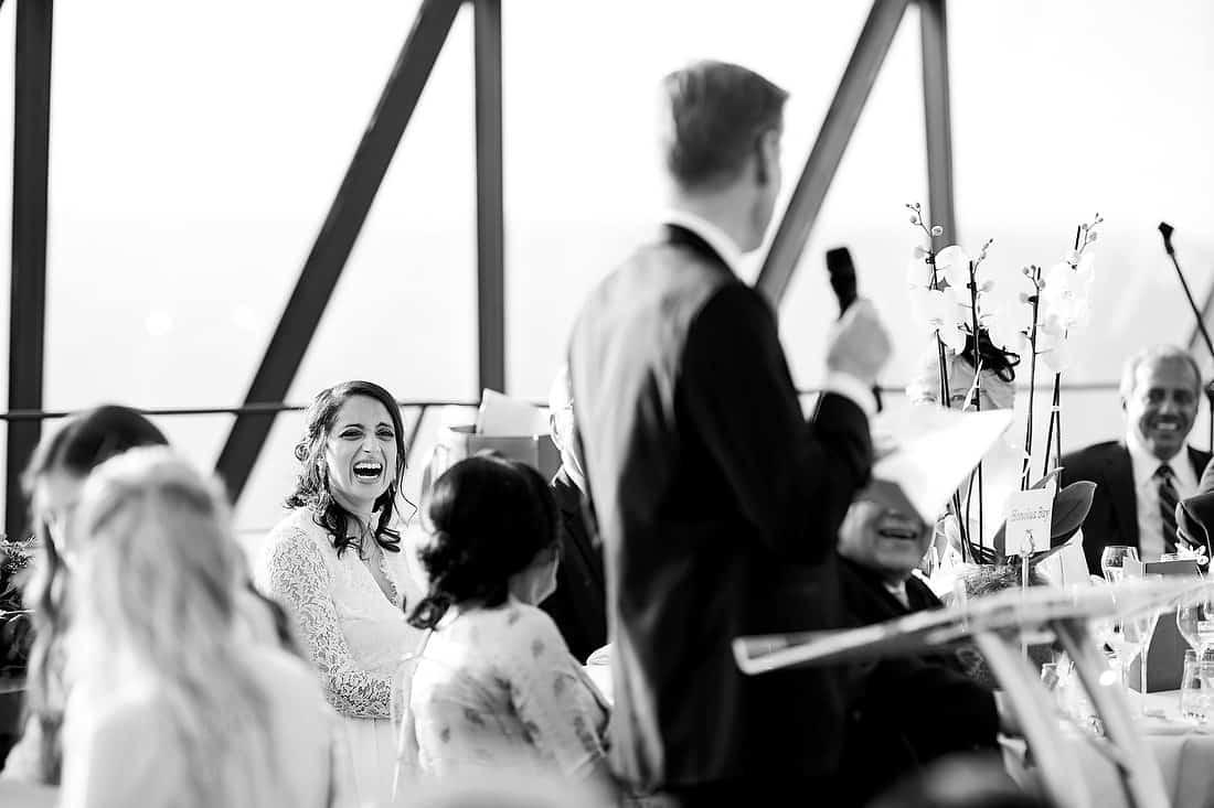 Wedding speeches at the Gherkin