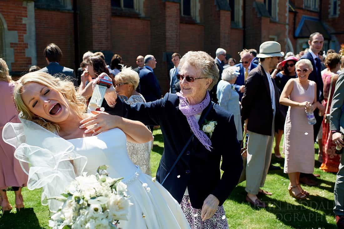 Granny and the confetti