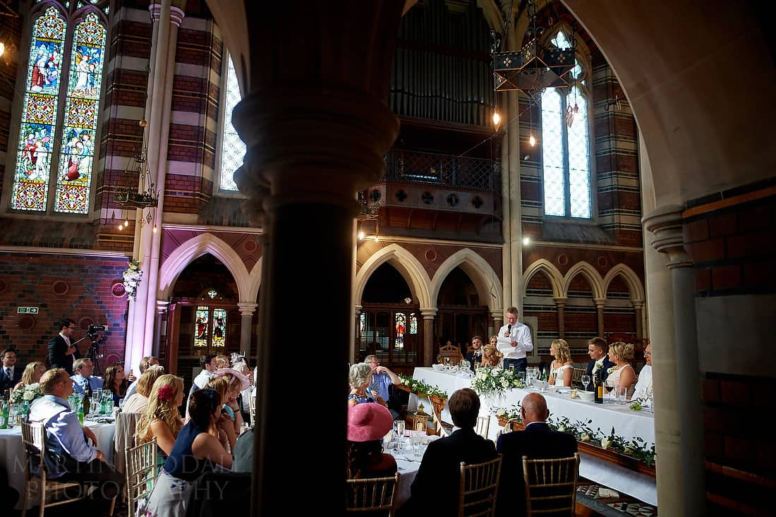 Wedding speeches at All Saints chapel