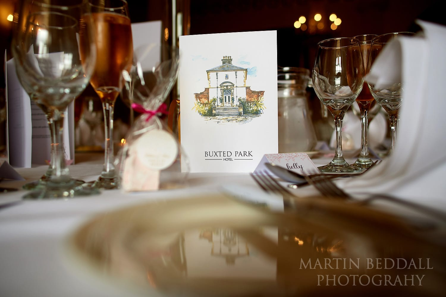 Buxted Park table setting