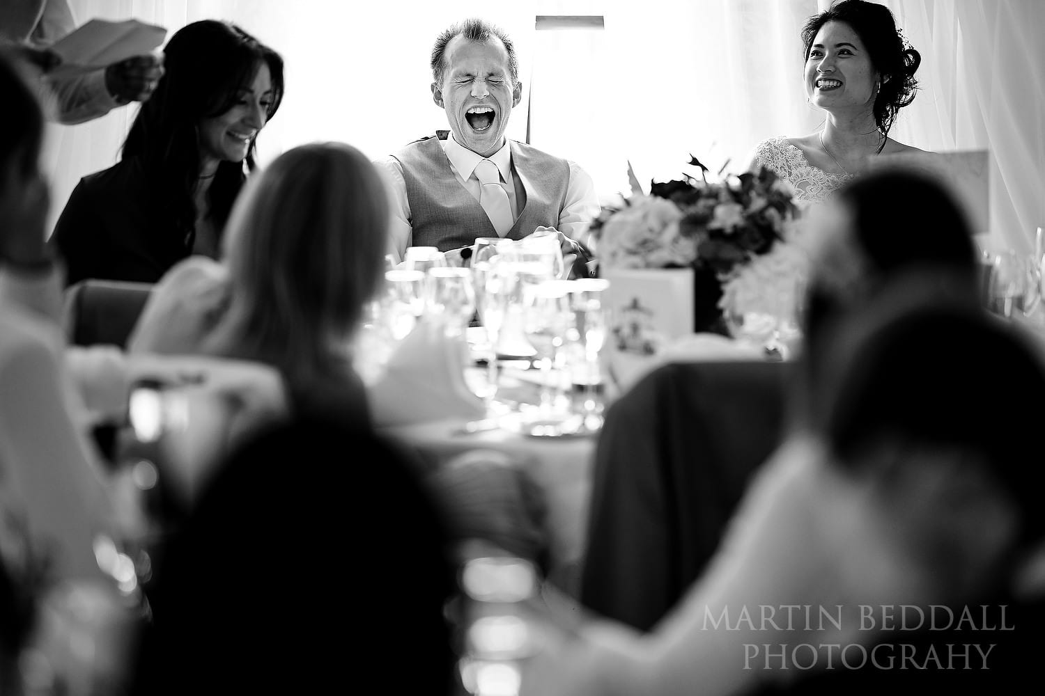 Wedding speeches at Buxted Park