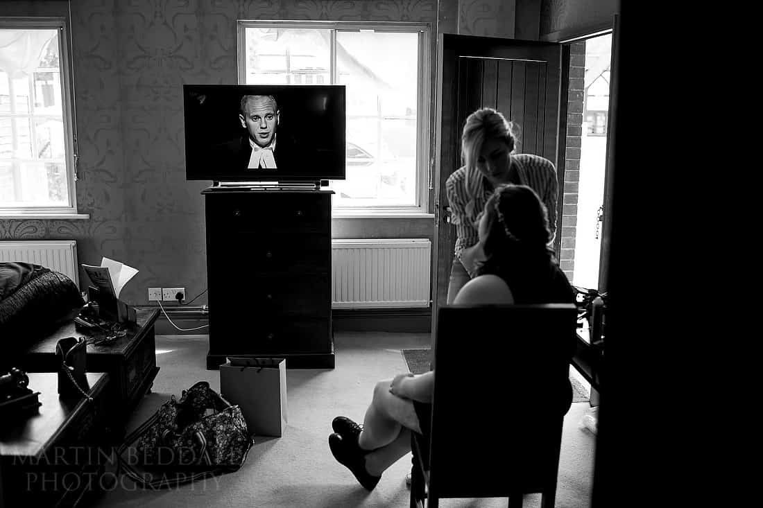 Judge Rinder in bridal prep