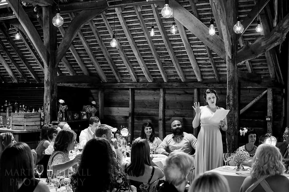Herons Farm wedding speeches