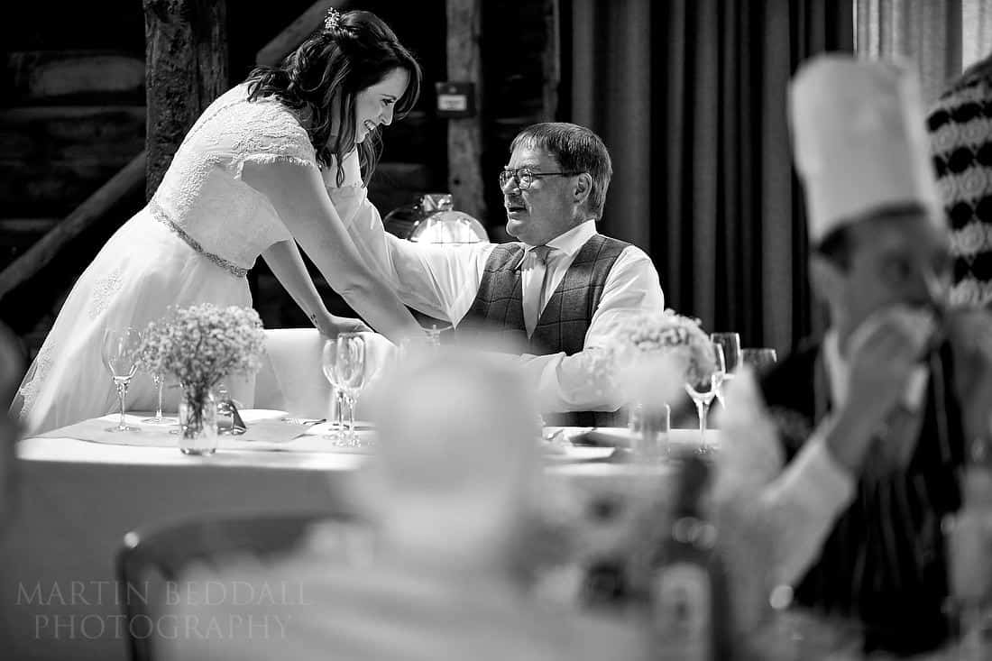 Bride has a moment with her father