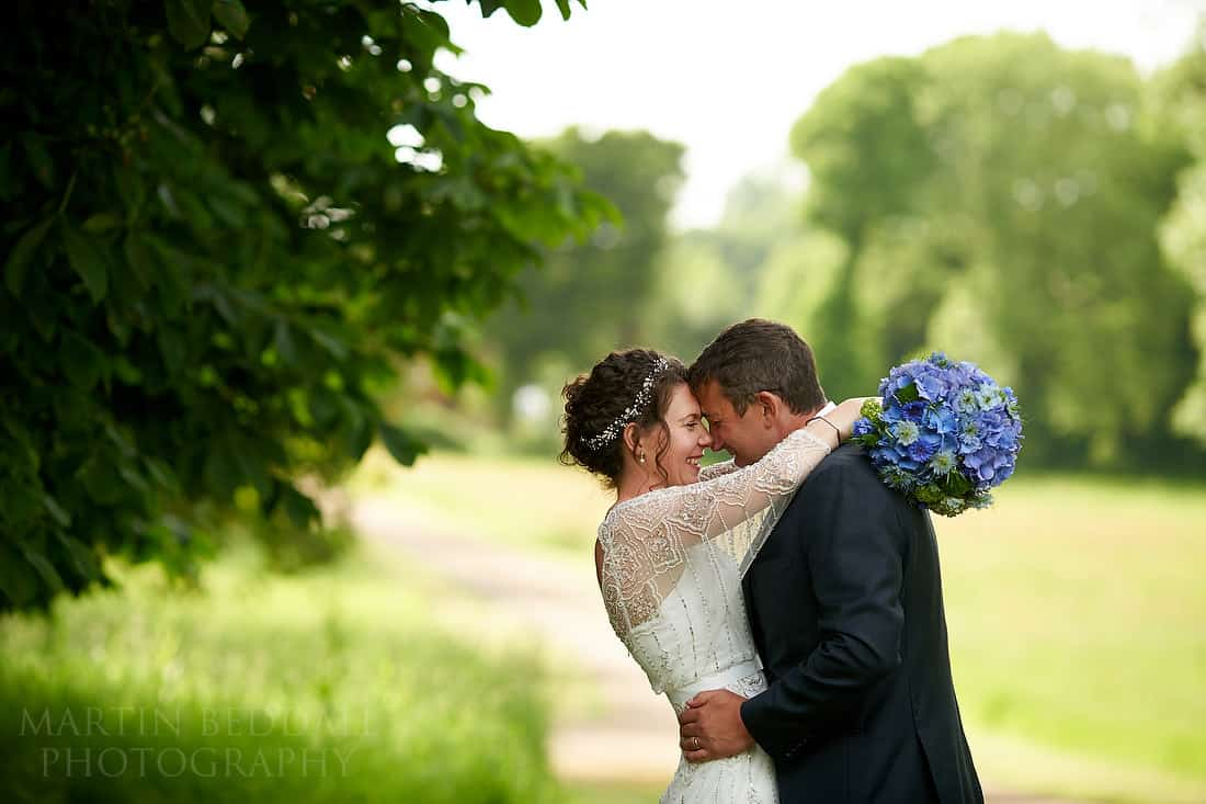 Bride and groom portrait at Pekes Manor