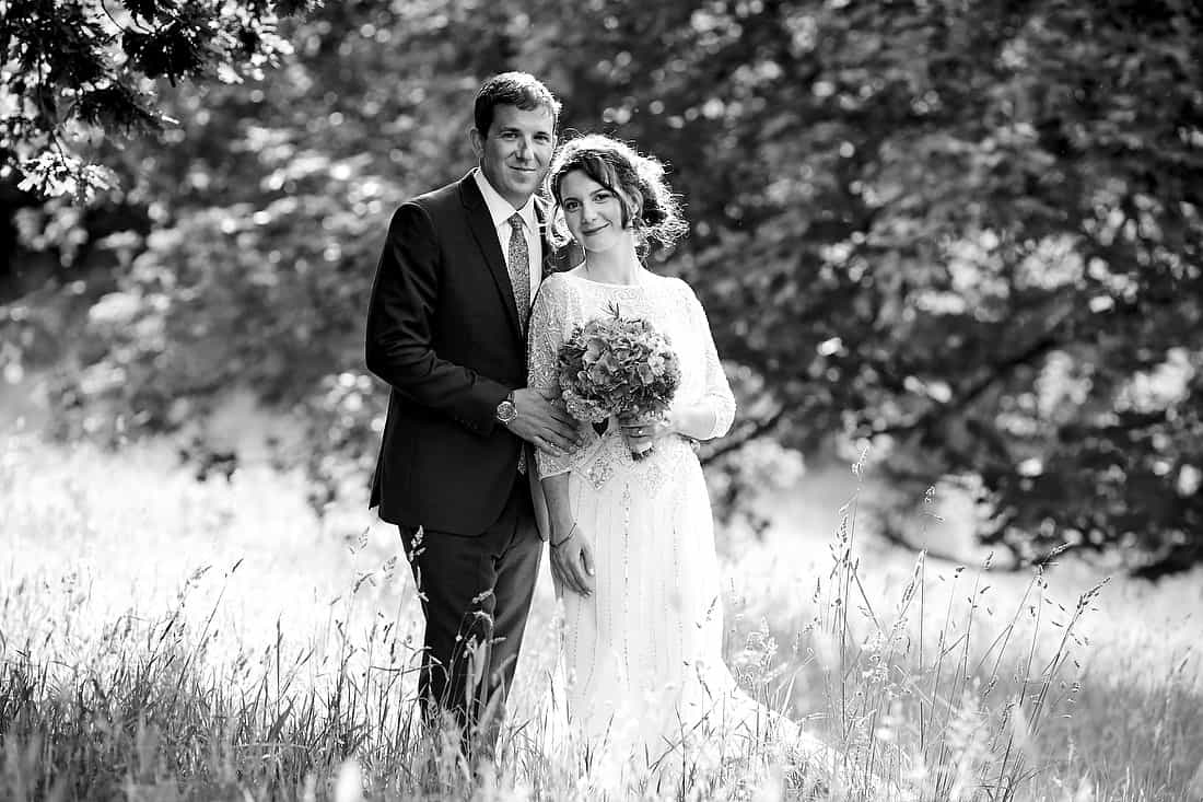 Bride and groom portrait at Pekes Manor