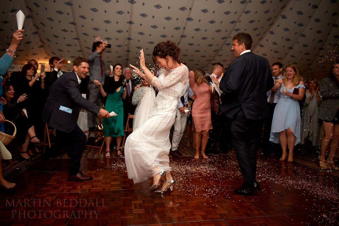 First dance and confetti