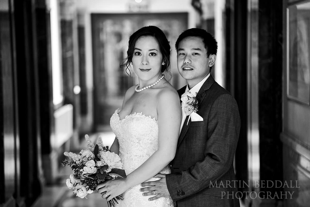 small London wedding portrait