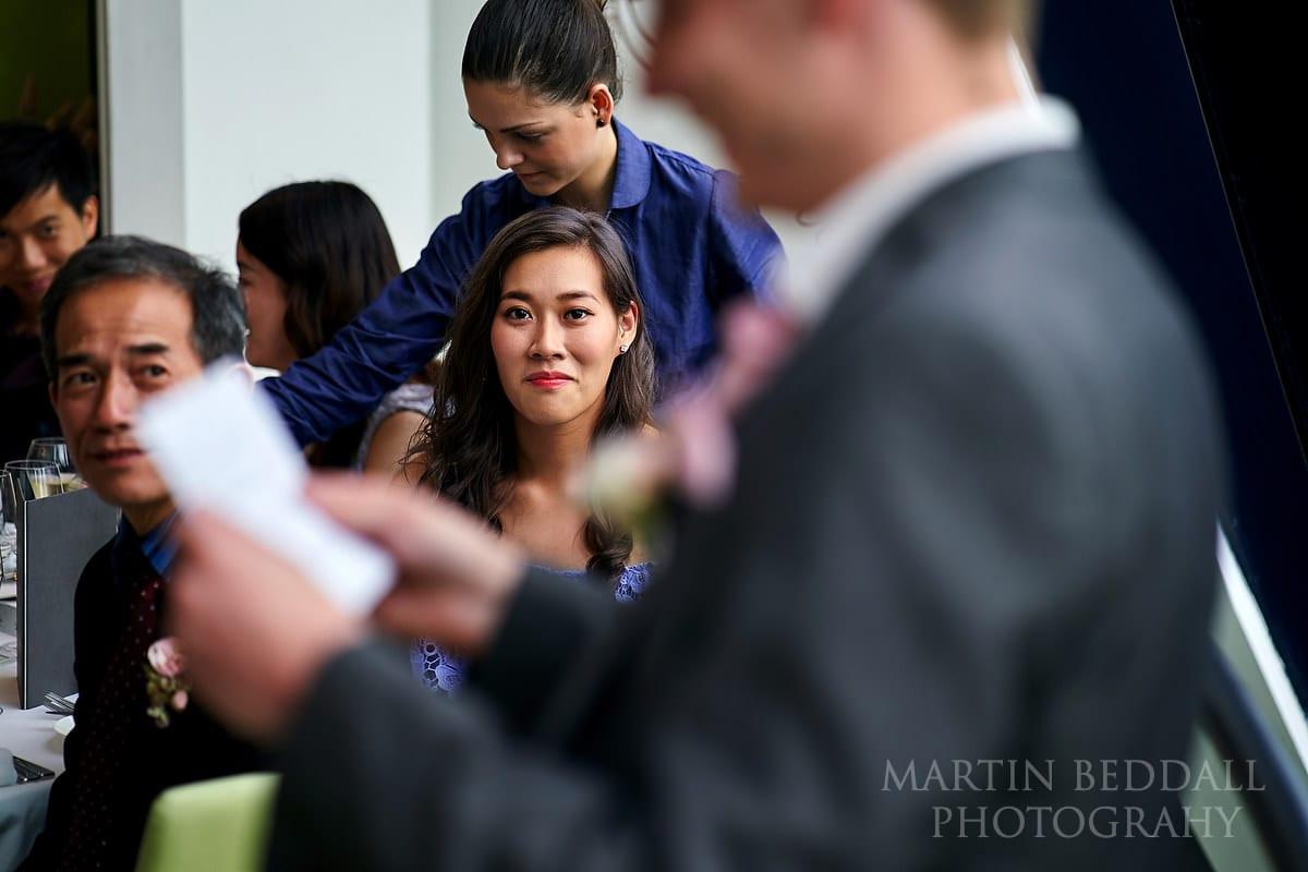 wedding speeches at small London wedding