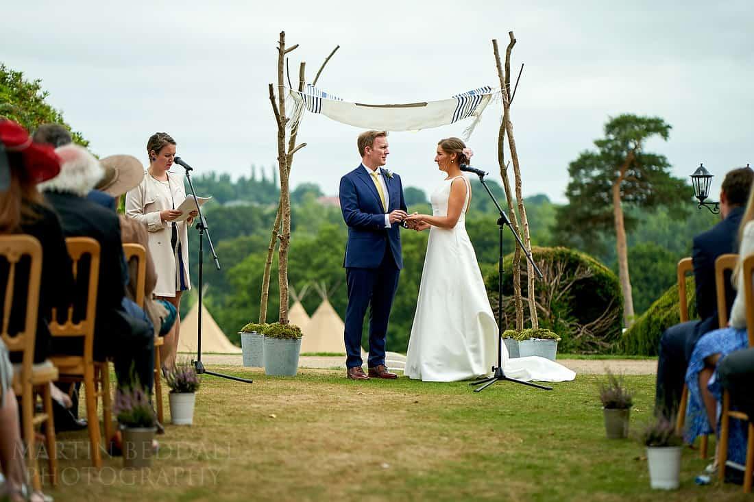 Ashdown House open air wedding ceremony