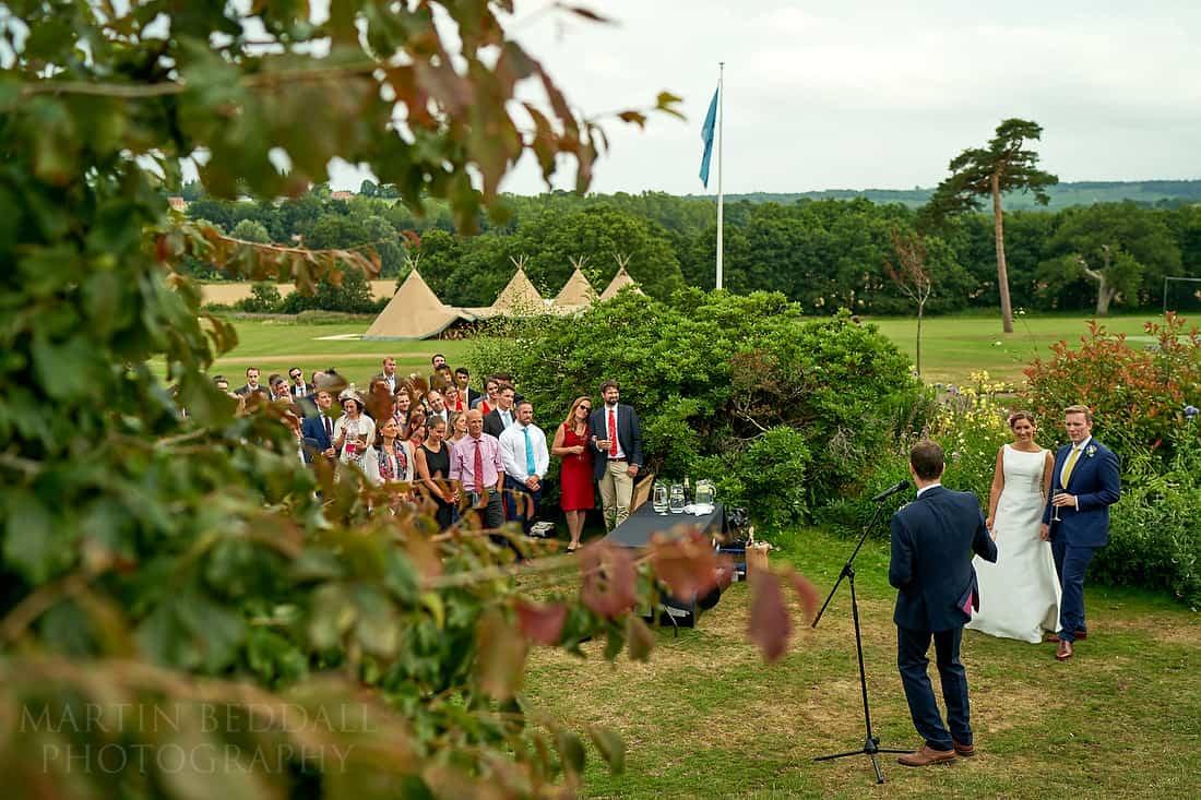 Open air wedding speeches