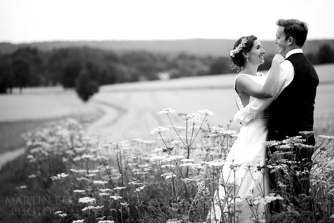 Sussex wedding portrait of the bride and groom