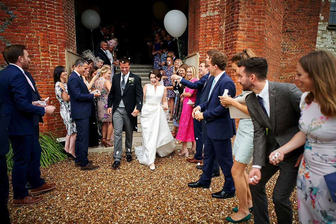 Confetti at farnham Castle