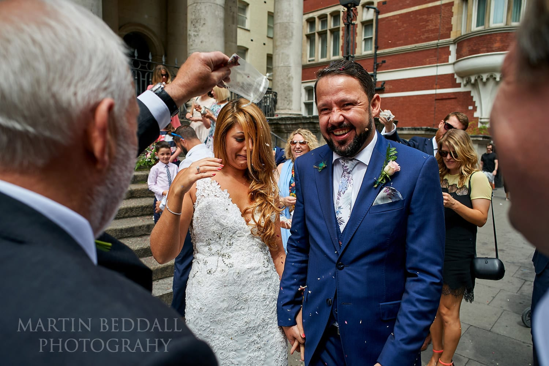 Confetti at Bloomsbury church