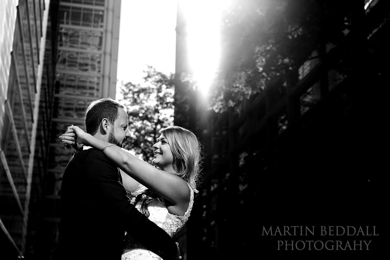 London wedding couple portrait