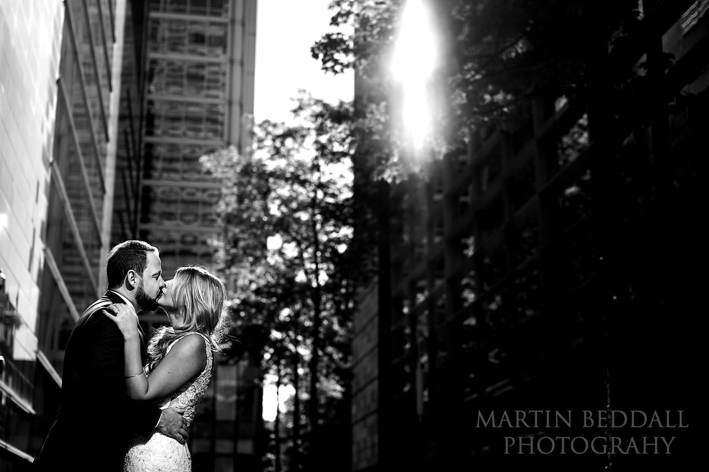 Bloomsbury wedding kiss