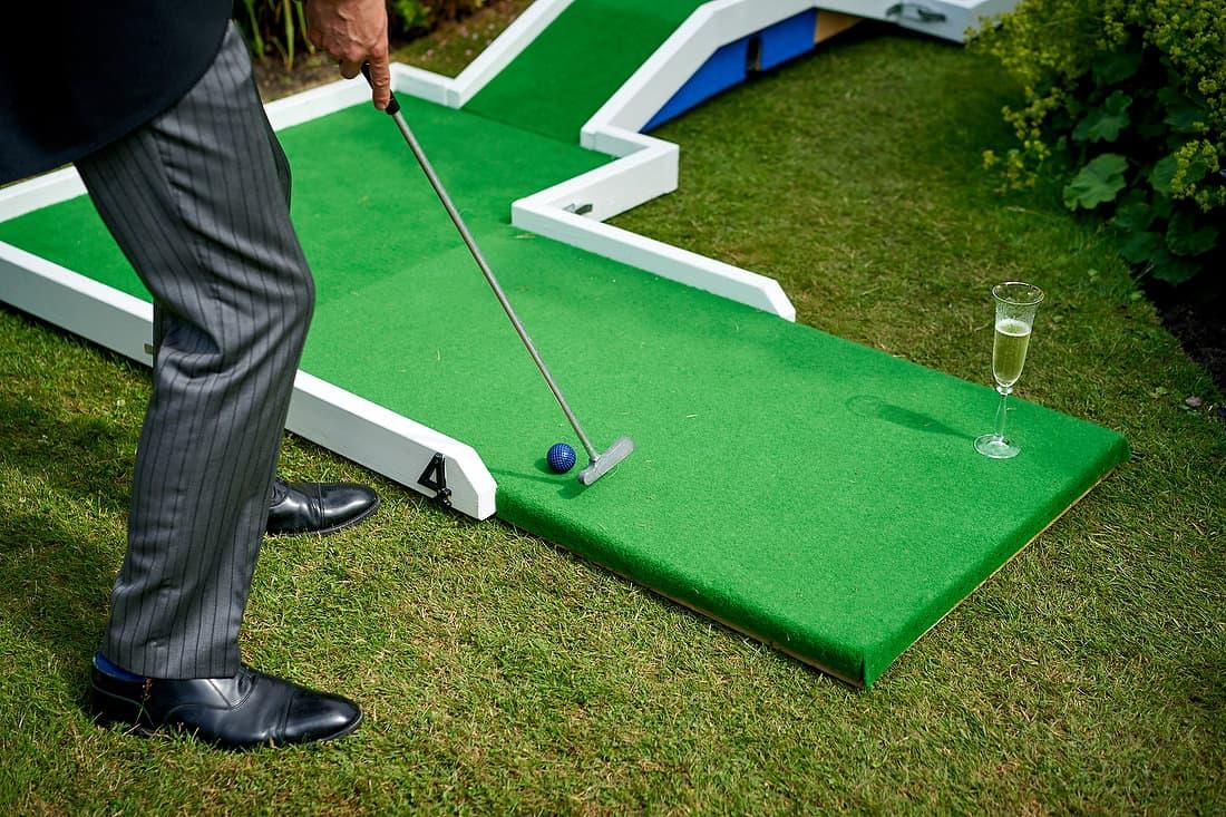 mini golf at wedding