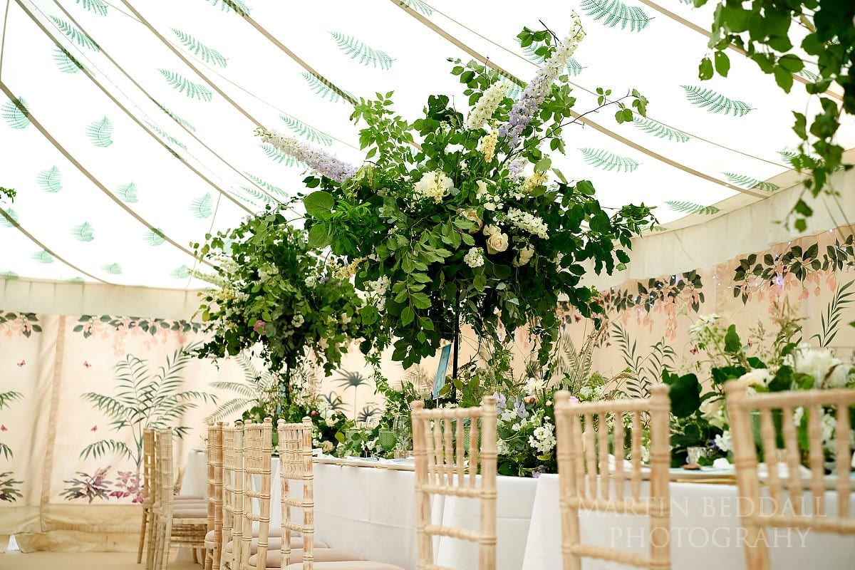 Wedding marquee at East Horsley wedding