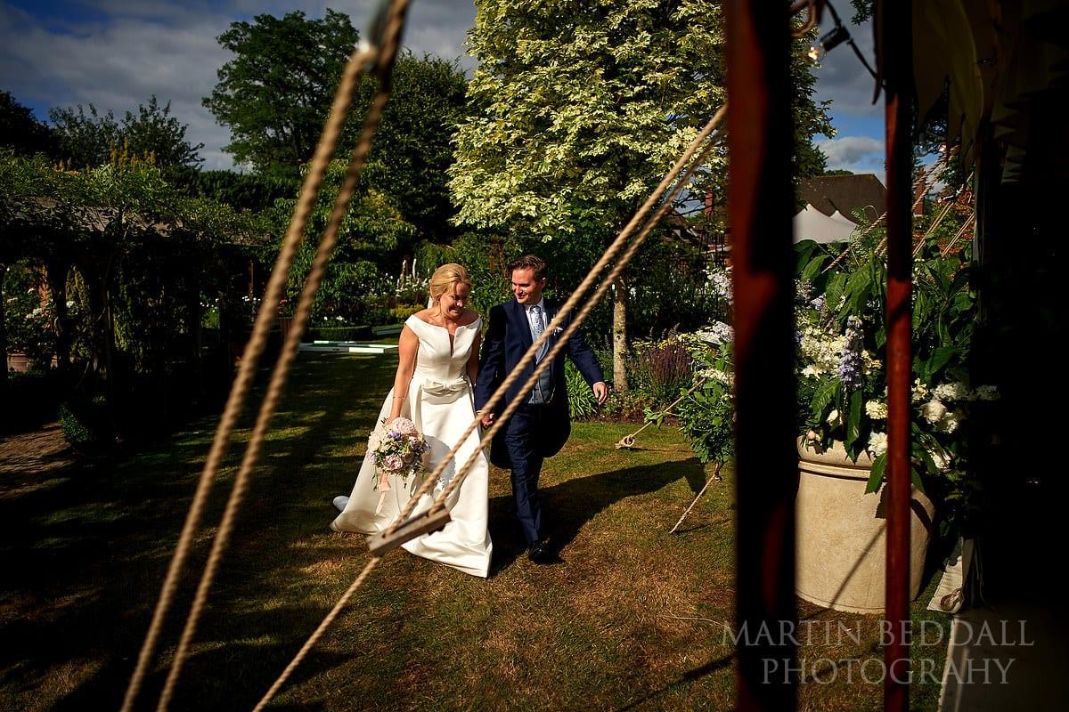 East Horsley wedding bride and groom
