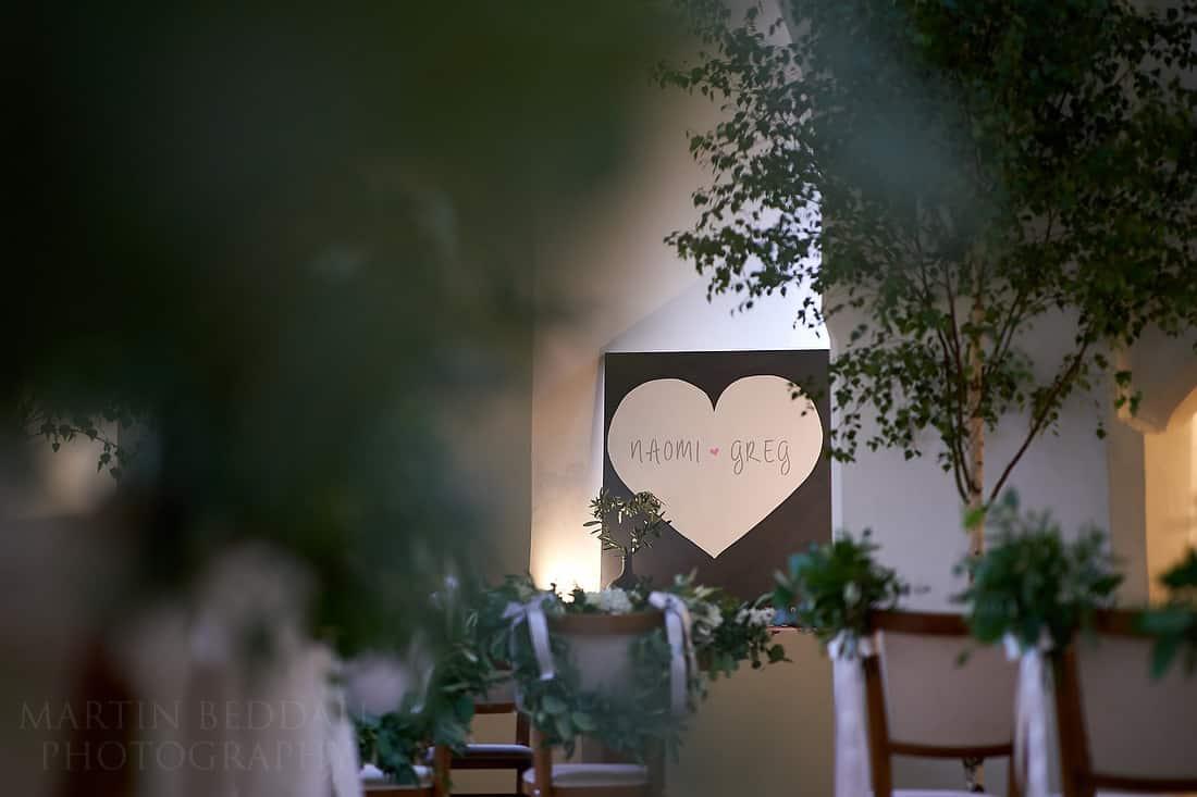 Wedding room at farnham castle