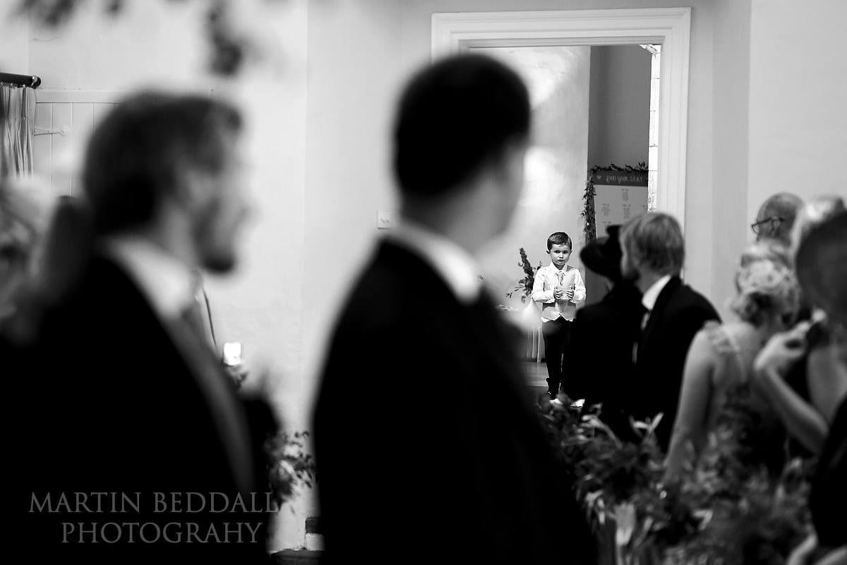 Wedding ceremony begins at Farnham Castle