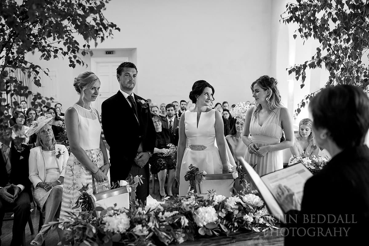 Witnesses at Farnham Castle wedding