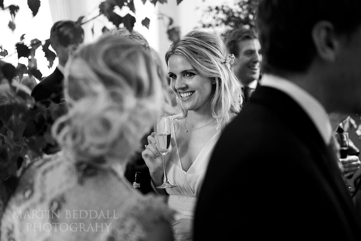 wedding reception indoors at Farnham Castle
