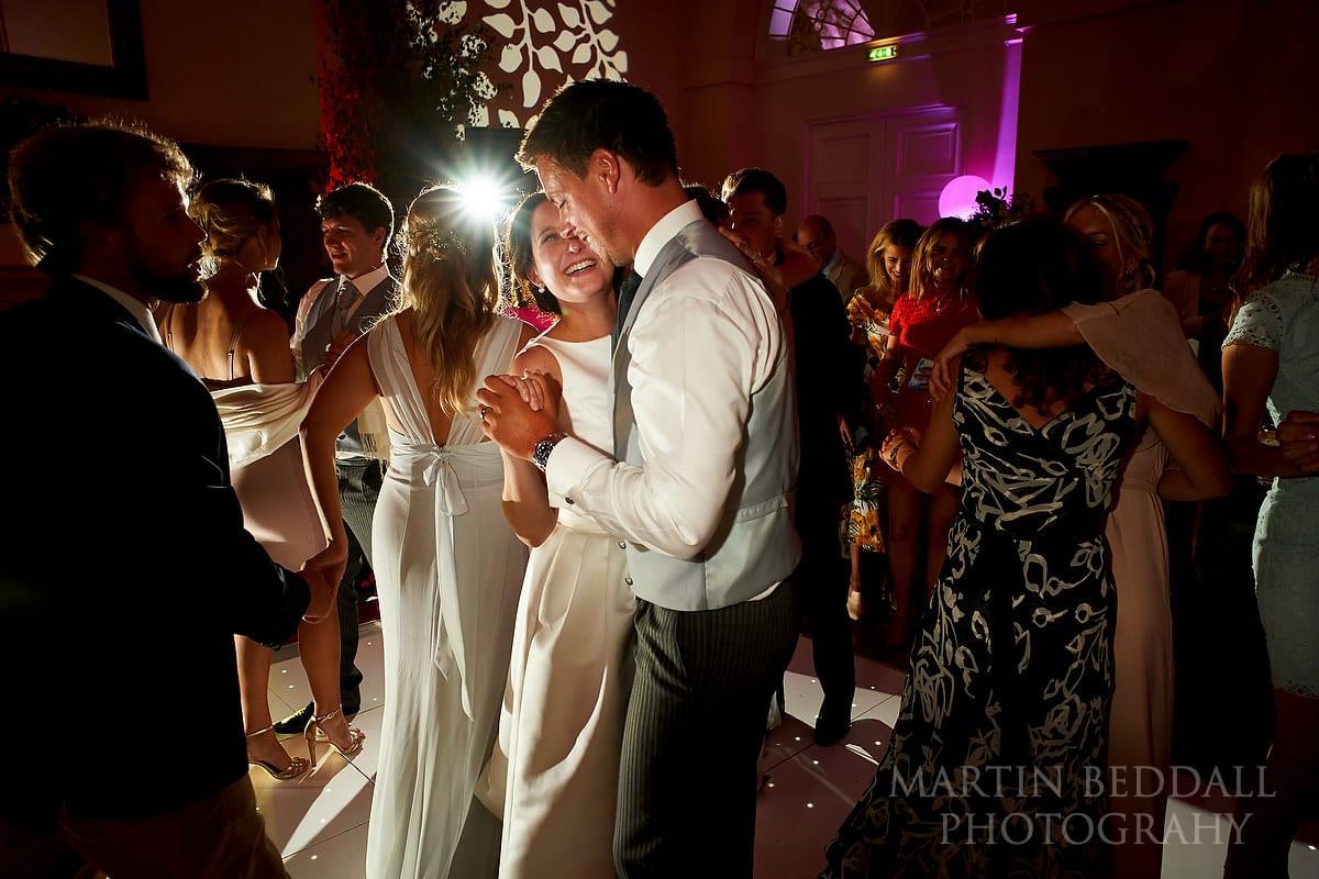 Dancing at Farnham Castle wedding