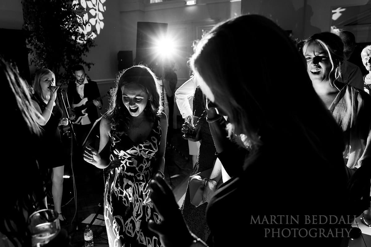Wedding party at Farnham Castle