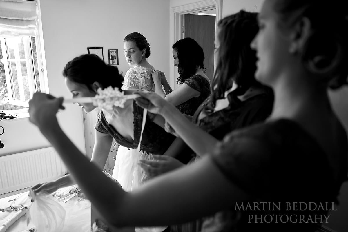 Arundel Cathedral bride getting ready
