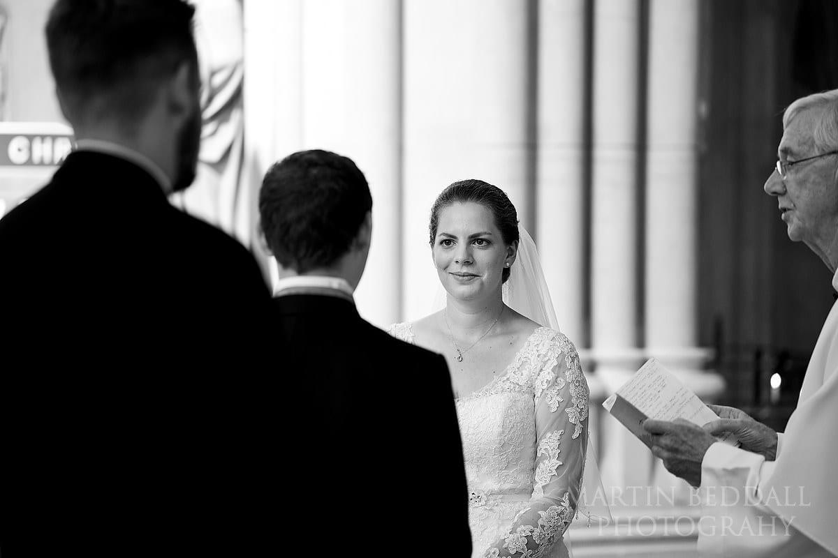 Arundel Cathedral wedding ceremony