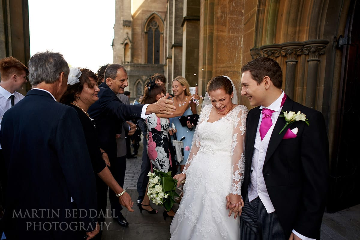 Confetti at Arundel Cathedral