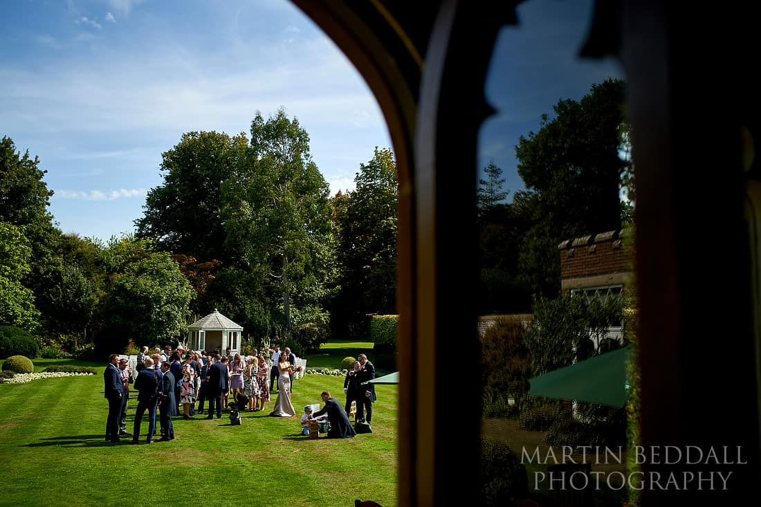 Wedding drinks reception at Horsted Place