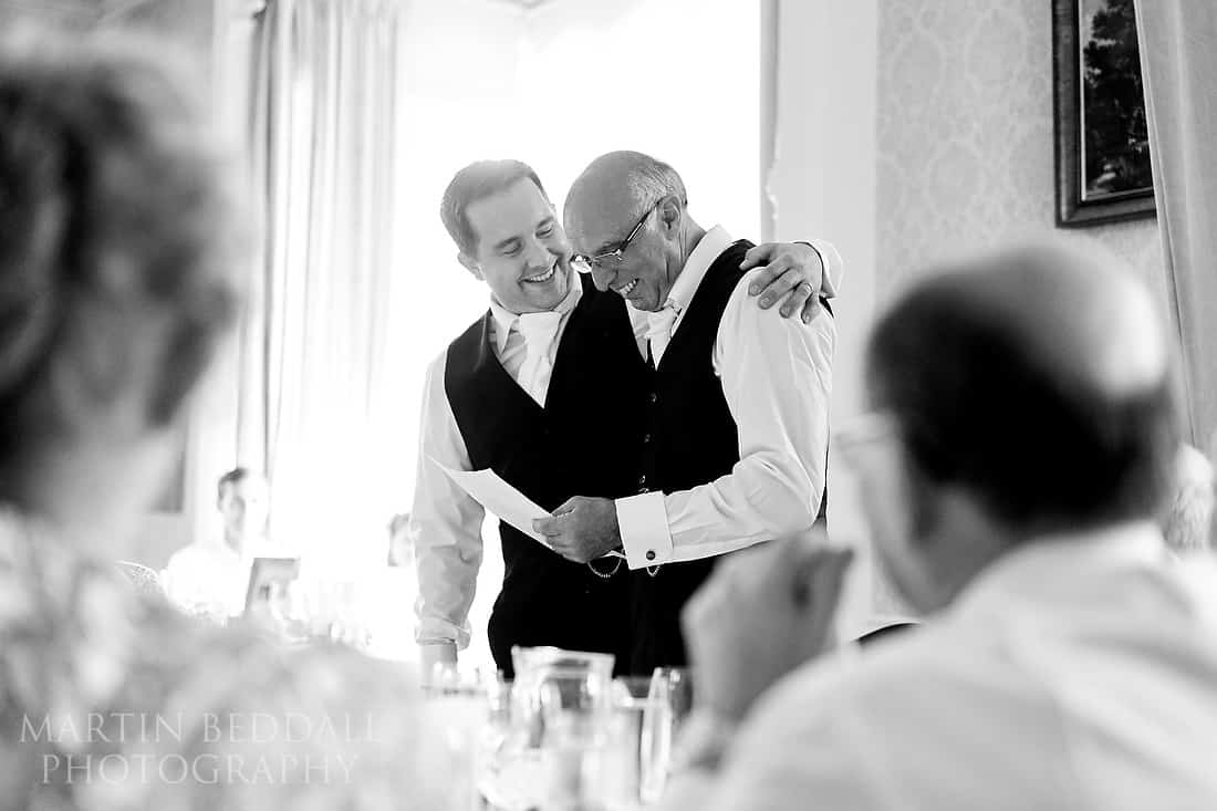 Groom supports his father-in-law