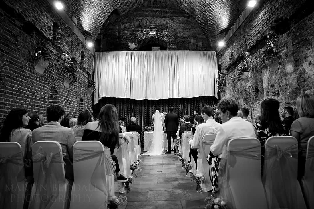 wedding ceremony in the Square Tower in Portsmouth