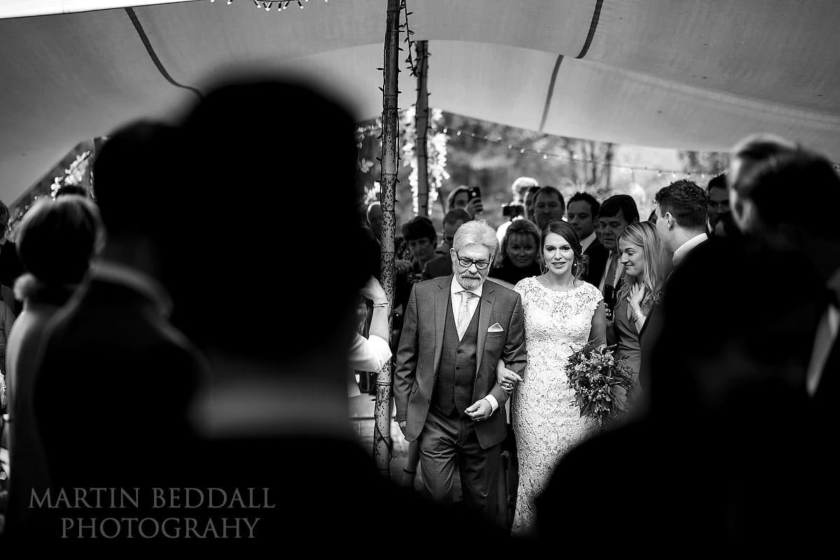 Wedding ceremony starts at The Copse