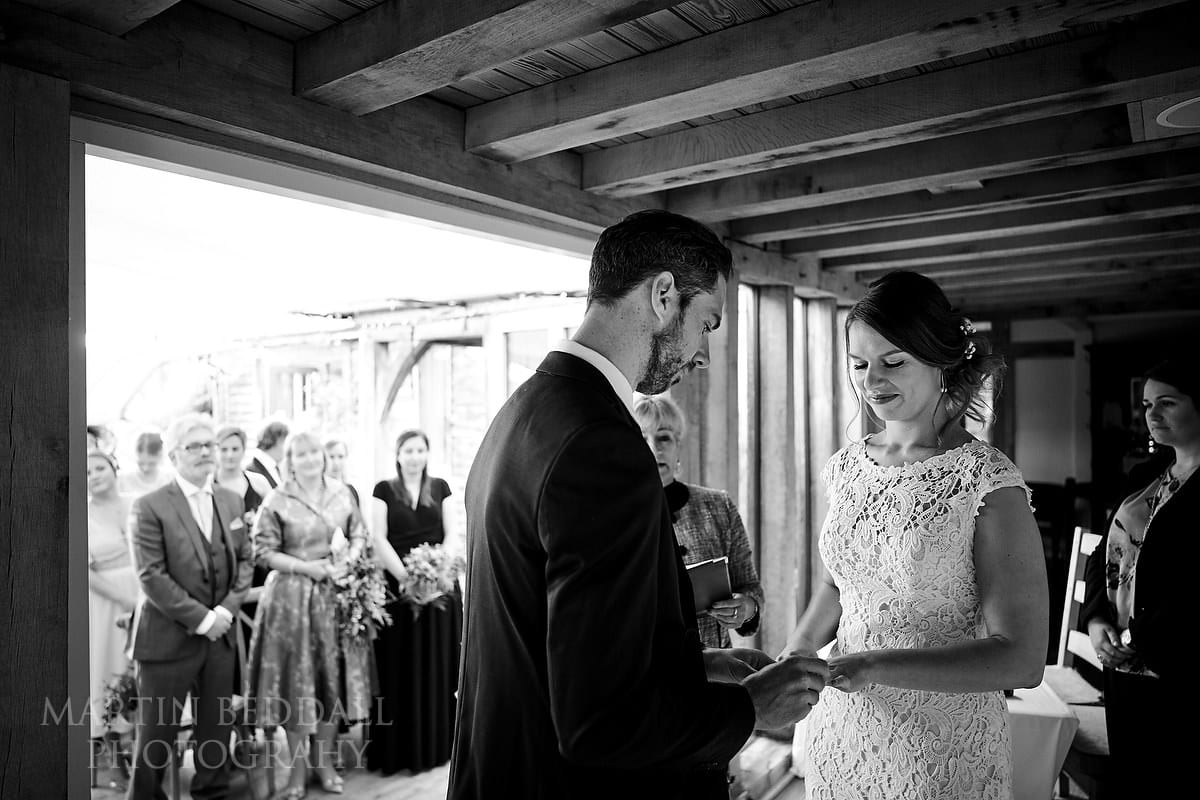 Wedding ceremony at The Copse