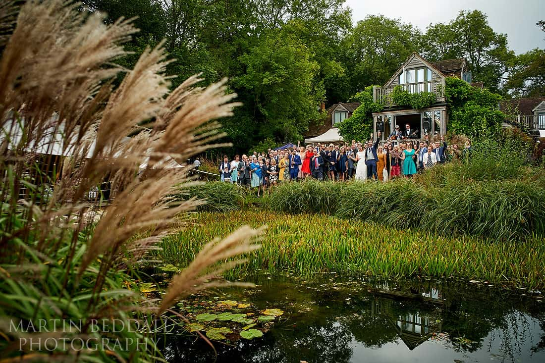 Wedding group photo at the Copse
