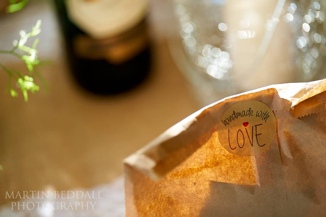 DIY wedding detail