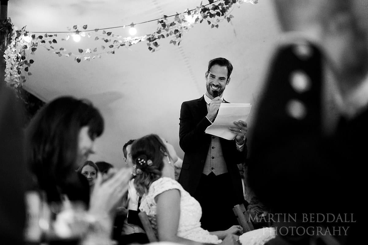 Groom's speech at The Copse wedding