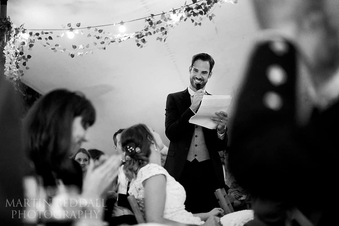 Speech by the groom