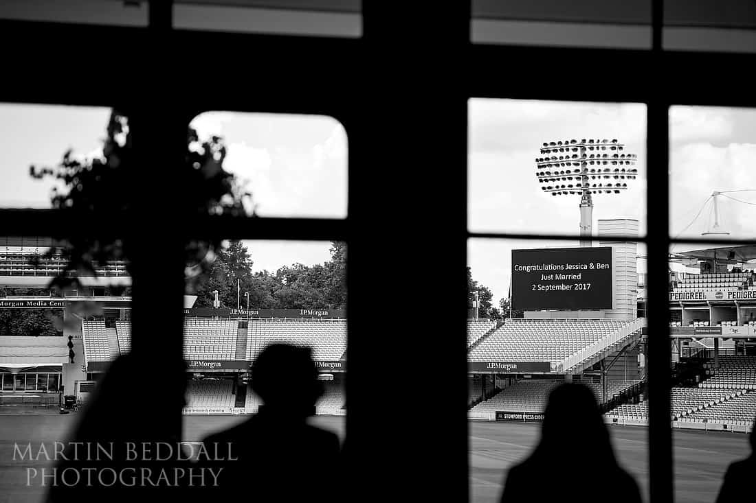 Wedding photography at Lord's cricket ground