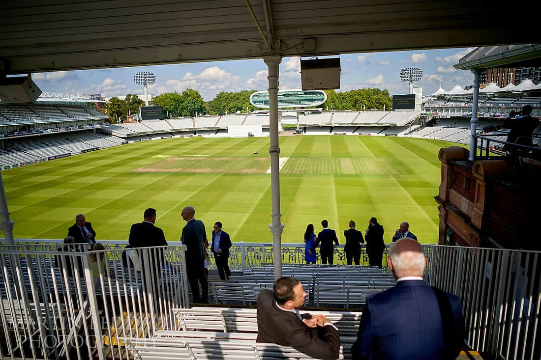 Wedding reception at Lord's cricket ground