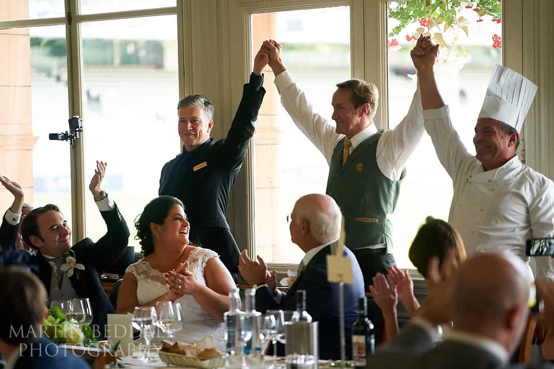 Singing waiters finish behind the top table