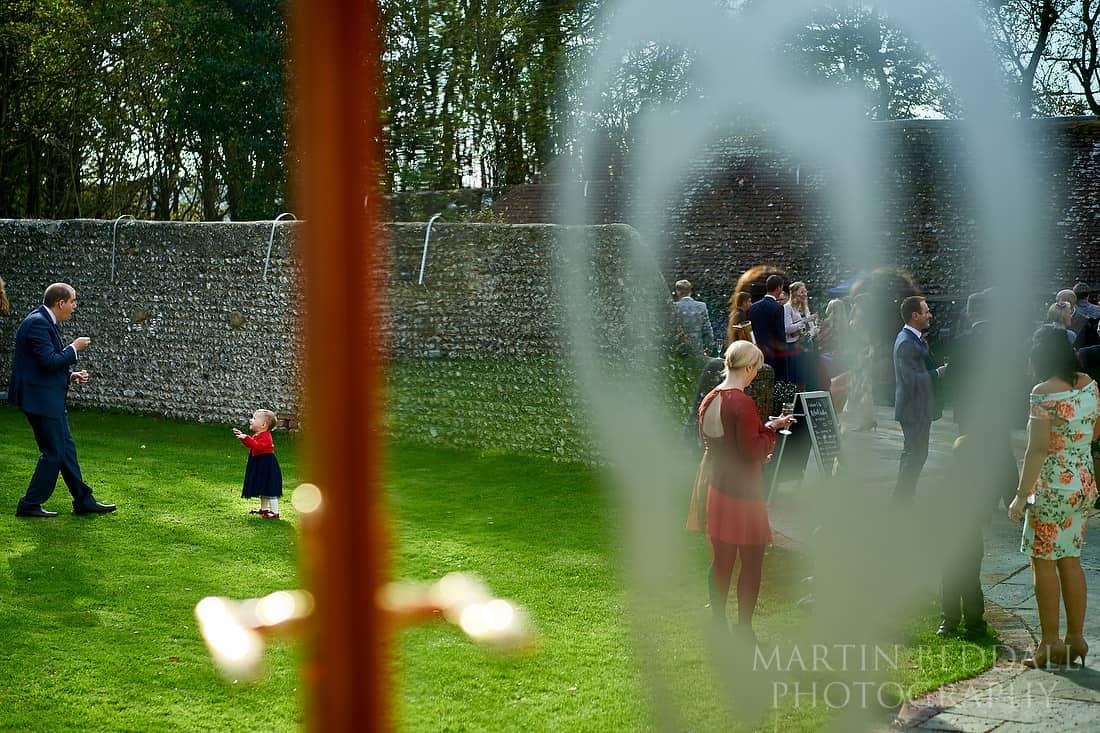 Wedding reception at Cissbury Barns