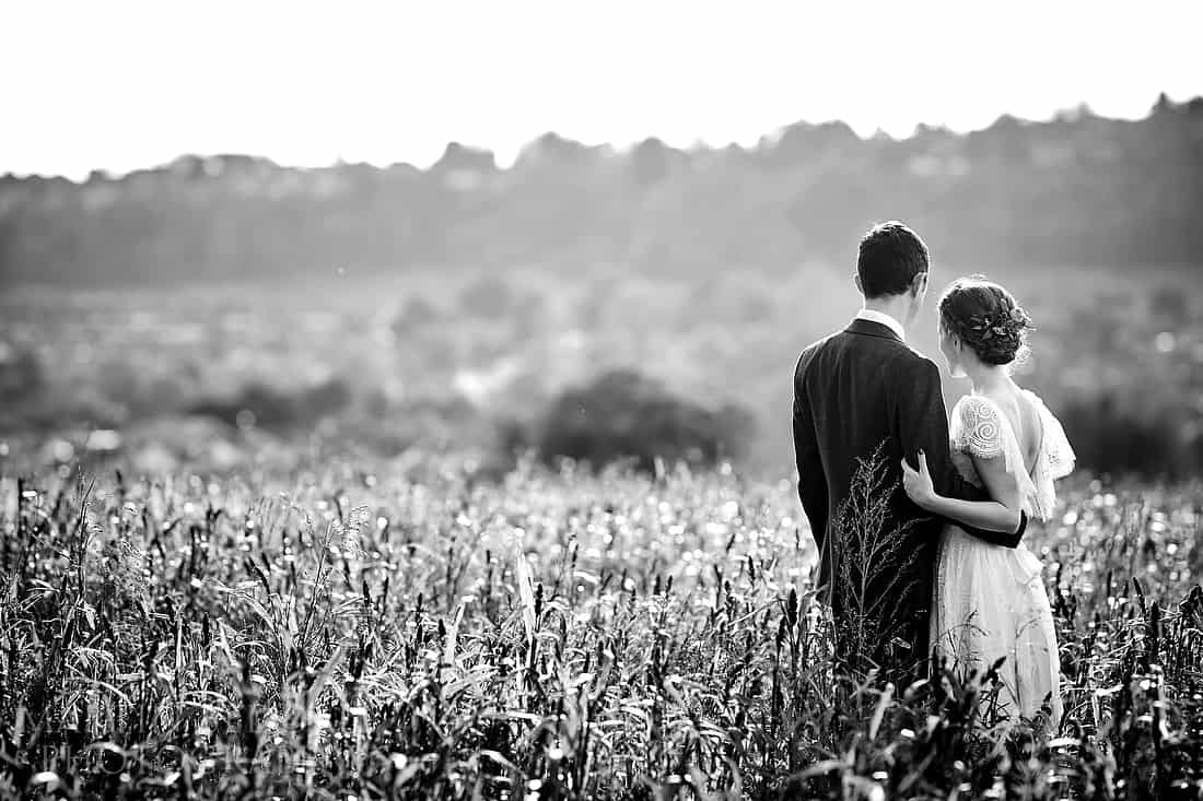 Bride and groom at Cissbury