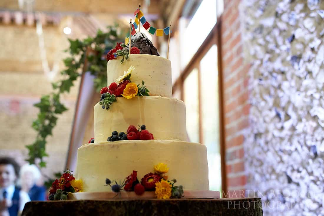Wedding cake by the Pudding Fairy