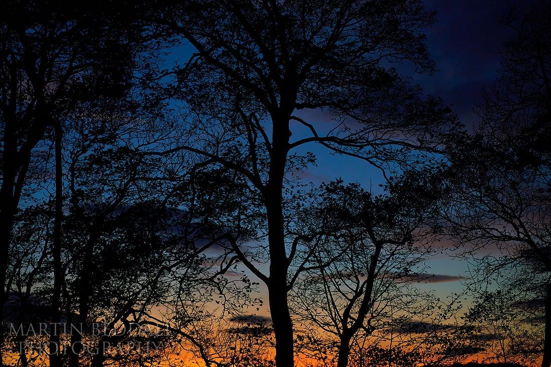Sunset at Cissbury Barns
