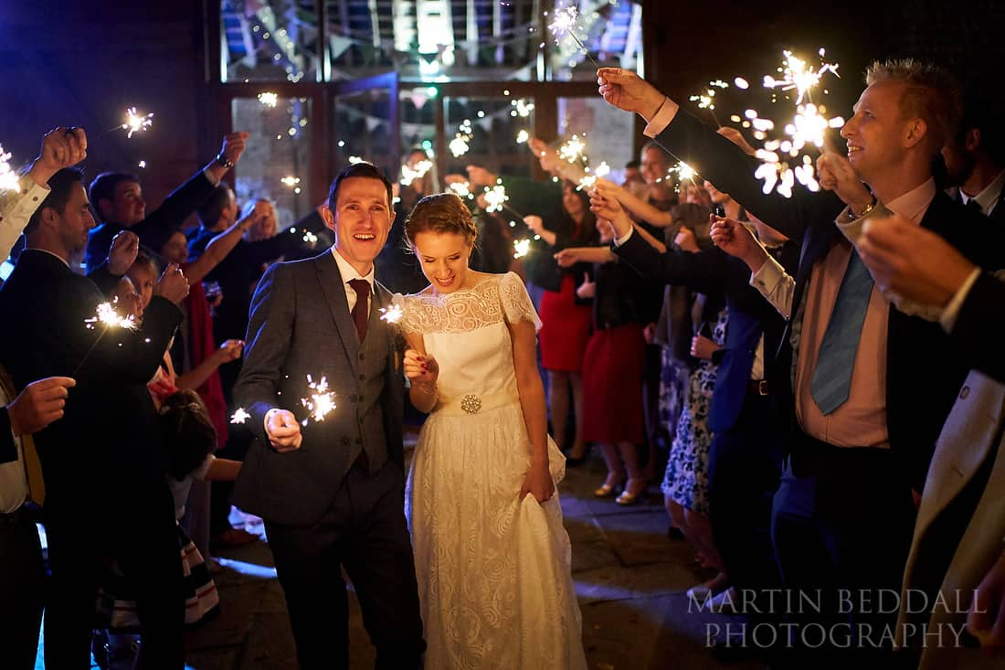 Sparklers at Cissbury Barns